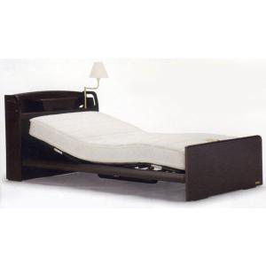 フランスベッド/2モーター電動リクライニングベッド/プレオックスPO-C4/ウェイクアップベッド/宮付・照明セミダブル e-flat