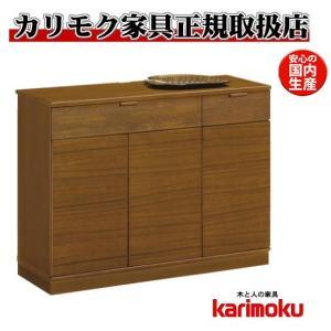 カリモクQD3506サイドボード・ミドルボード・コンソール収納 シンプル・ナチュラル・ブラウン キャビネット  日本製家具の写真