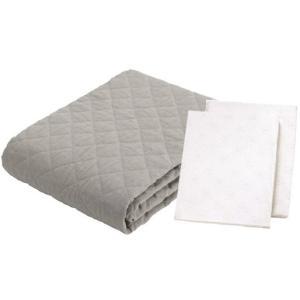 フランスベッド 麻3点ベッドパッドメーキングセット リネン セミダブル ベッドパッド&シーツ2枚セット|e-flat