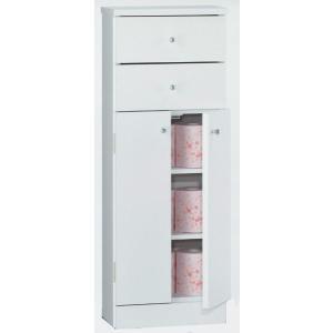 サニタリー2/Dタイプ省スペース/引出し付きトビラ/トイレ洗剤入れ/タワーボックス/開き戸/収納|e-flat