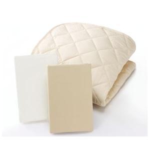 シーリー TPウール三点パック ベッドパットセット ダブルワイド 羊毛 ベッドメーキング|e-flat