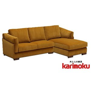 カリモクUW60モデル UW6038 uw6049 3Pソファ シェーズロング トリプルソファ 平織布張 ファブリック カバーリング 選べるカラー かっこいい  日本製家具|e-flat
