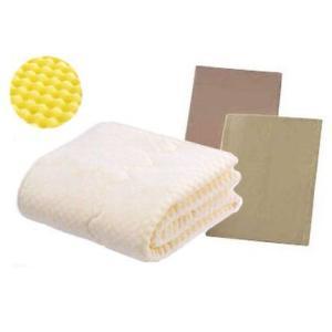 フランスベッド ウォッシャブル低反発ベッドパット3点パック ワイドダブル ベッドメーキング|e-flat