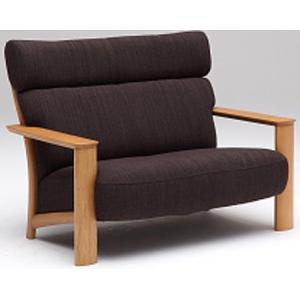 カリモクWT41モデル WT4112 2Pソファ 二人掛け椅子 平織布張 ファブリック 木製肘掛ソファ ラブソファ セミハイバック 日本製家具|e-flat