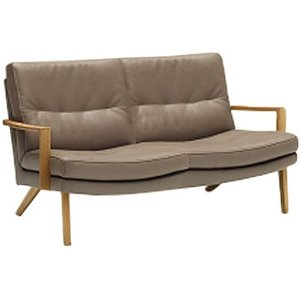 カリモクZU16モデル ZU1602 2Pソファ 二人掛け椅子 肘掛椅子 本革張りソファ 木製肘掛ソファ ローバック コンパクト 日本製家具|e-flat