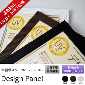 額縁 UVカット 木製ポスターフレーム「デザインパネル」B4(364×257mm) アウトレット【bt-st】|e-frame