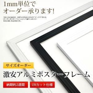激安アルミポスターフレーム 特注サイズ 【タテヨコ合計1001〜1100mmまで】【APF/特注】|e-frame