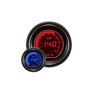 オートゲージ EVOシリーズ 電圧計 52ΦデジタルLCDディスプレィ ブルー/レッド|e-frontier