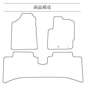 トヨタ アクア DAA-NHP10 H23/12〜 フロアマット 1台分 黒|e-frontier|03
