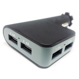 シガーソケット USB 4ポート 4分配 12V 24V|e-frontier