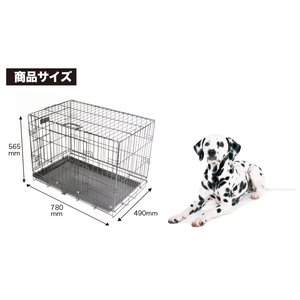 Pet Cage ペットケージ 中型犬 組立式 ペット用折りたたみケージ 【ブラック・ホワイト】|e-frontier|02