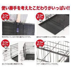 Pet Cage ペットケージ 中型犬 組立式 ペット用折りたたみケージ 【ブラック・ホワイト】|e-frontier|03