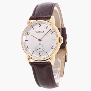 CIRCAの腕に馴染むアンティークモデルの腕時計です。  マットな質感のシルバー文字盤に、クラシカル...