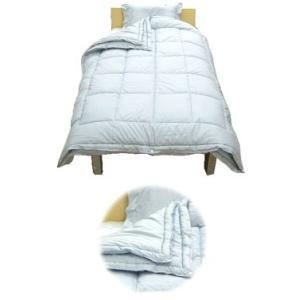 ダクロンアクア綿デュエット掛敷枕 4点セット /シングルロング|e-futon