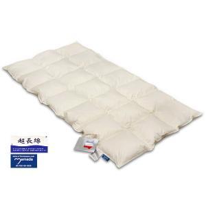 ダウンベッドパッド スノーホワイト 中厚仕様 /セミダブル e-futon