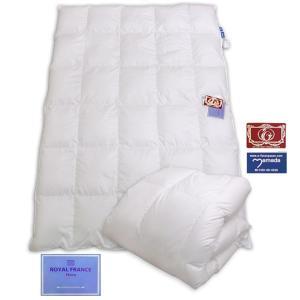 フランス産ホワイトダウン90% 軽量羽毛掛ふとん /シングル (ホワイト)|e-futon
