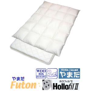 ナチュレ羽毛掛けダクロンホロフィル固敷セット /シングル─超ロングサイズ e-futon
