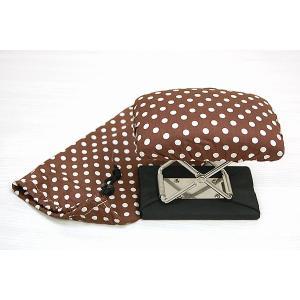 正座いす #ドット柄カバー付き|e-futon