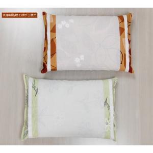 そば枕 カバー付き (35×50) 洗浄熱処理そばがら使用|e-futon