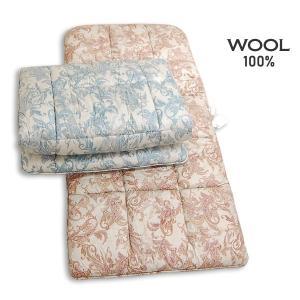 西川の羊毛100% ウール敷ふとん 4S12210#360R /シングルSL e-futon