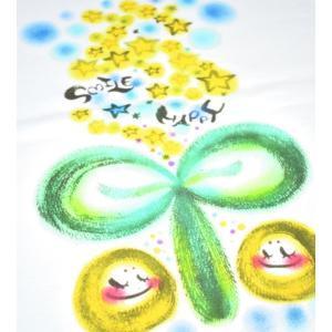 画家 わだのめぐみ smile happy柄 レディース長袖Tシャツ|e-gao-appa|02
