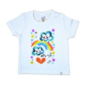 画家 わだのめぐみデザイン柄 子供半袖Tシャツ|e-gao-appa