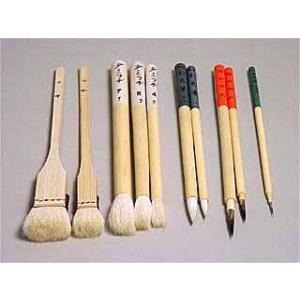 陶芸/釉掛け・絵付け筆セット B 5種、10本組|e-gazai-tougei