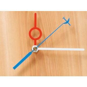 陶芸 時計針 Q-8 時針赤分針白秒針青