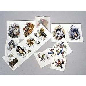 陶芸/デザイン転写紙セット 動物 約14ピース|e-gazai-tougei