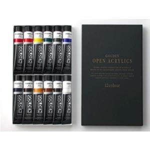 ゴールデン オープン アクリリックス 12色セット|e-gazai-tougei