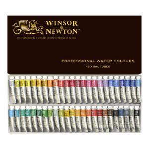 ウィンザー&ニュートン水彩絵具セット  48色セット|e-gazai-tougei
