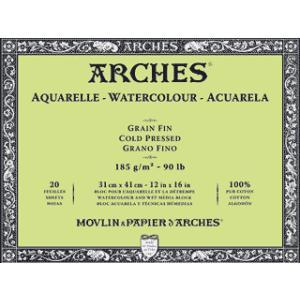 世界の名門紙、アルシュ紙のブロックです。 サイズ180×260mm  アルシュ紙が隙間なくブロックさ...