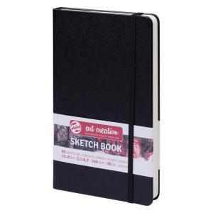 ターレンス アートクリエーション スケッチブック 13×21黒 e-gazai-tougei