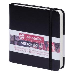 ターレンス アートクリエーション スケッチブック 12×12黒 e-gazai-tougei