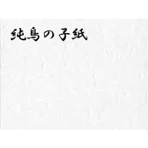 純鳥の子紙(じゅんとりのこし)白口中厚  ドーサ引き 2枚巻 56×76cm|e-gazai-tougei