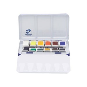 ナショナルギャラリー×ヴァンゴッホ固形水彩12色セットメタルケース|e-gazai-tougei
