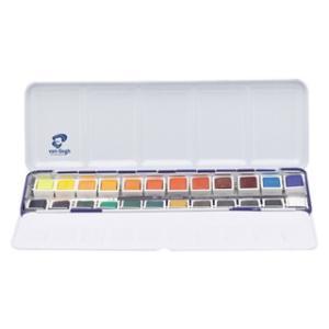 ナショナルギャラリー×ヴァンゴッホ固形水彩24色セットメタルケース|e-gazai-tougei