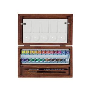ナショナルギャラリー×ヴァンゴッホ固形水彩24色木箱セット|e-gazai-tougei