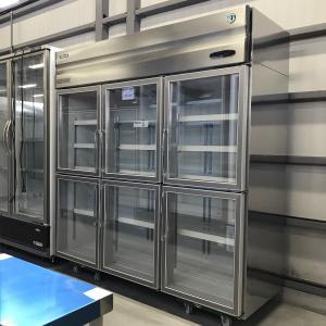 リーチイン冷蔵ショーケース ホシザキ RS-180XT3-6G 中古【ガラス製品のため自社配送(三重県内)のみ注文承ります】|e-gekiyasu