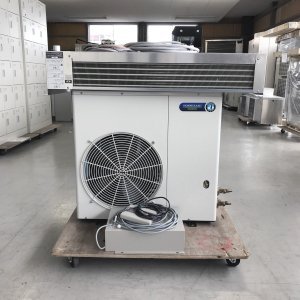 プレハブ冷蔵ユニット 1馬力 ホシザキ HUS-8RA-IV(冷凍機 HUS-8RA-UCI クーリングコイル HUS-8RA-E コントローラー HUS-A-CB) 中古|e-gekiyasu