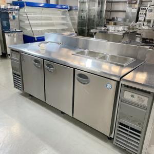 サンドイッチテーブル(オール冷蔵)フクシマガリレイ(福島工業)YRW-180RM2-F(改)|e-gekiyasu