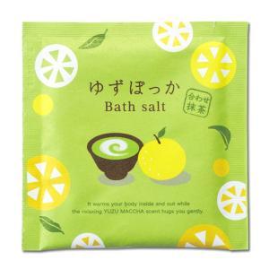 ゆずぽっか バスソルト ゆず抹茶の香り