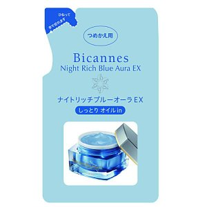 ナイトリッチ ブルーオーラEX しっとりオイルin つめかえ用 夜用ジェルクリーム 55g 美カンヌ化粧品|e-hadapios