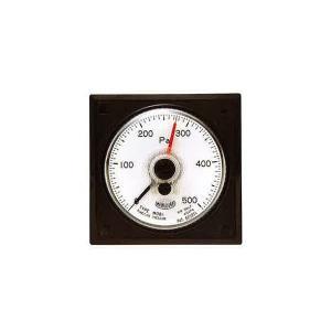 山本電機製作所 WO81 PR S ±500D 微差圧計 マノスターゲージ パネル角形 置針1本付 微差圧計 マノスターゲージ 赤色 e-hakaru
