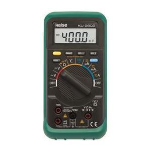 カイセ KU-2602 デジタルマルチメーター(ハンディータイプ) KAISE / サーキットテスター|e-hakaru