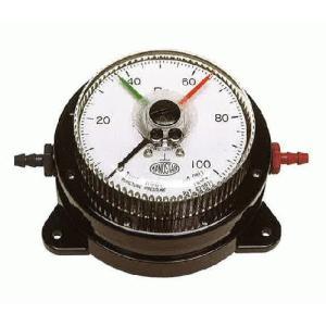 山本電機製作所 WO81 FT 200D 微差圧計 マノスターゲージ 表面形置針2本微差圧計 マノスターゲージ 赤・緑色各1 e-hakaru
