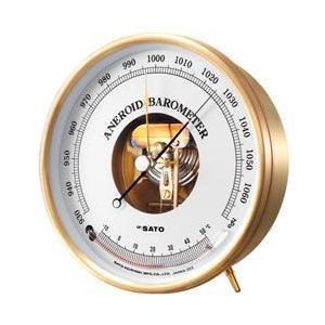 7610-20 アネロイド気圧計 (温度計付) 佐藤計量器...