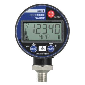 長野計器 GC04-174-24BXX3XXXXX0 高精度デジタル圧力計 連成圧 -0.1〜0.2MPa 禁油禁水 e-hakaru