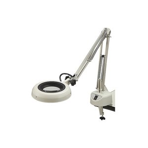 オーツカ光学 O-LIGHT F型 12X 蛍光灯式照明拡大鏡 倍率=12倍 フリーアーム式|e-hakaru