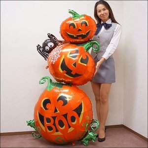 装飾用ハロウィンバルーン [ポンプ付]パンプキンスタッカー H158cm e-halloween